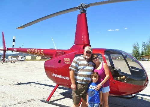 Family by the Helicopter